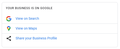 Sharing your Google My Business listing
