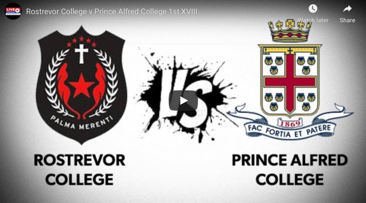 Rostrevor College 1st XVIII Live Stream vs PAC