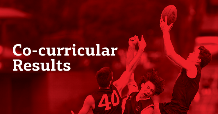 Co-curricular Results Term 3, Week 3, 2020