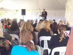 Publicious Director and Author Andy McDermott hosting a self-publishing workshop at the Byron Bay Writers Festival