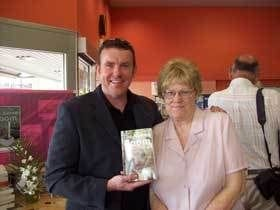 Author Diana Hockley with author and director of Publicious Andy McDermott