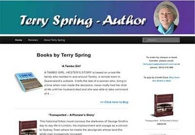 Publicious Author Website - Terry Spring