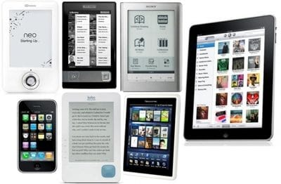 eReaders capable of reading Publicious's ePub ebooks