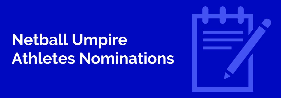 Netball Umpire Nominations SWSAS 2020