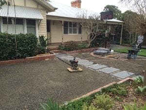 Gravel and dust base for artificial grass Melbourne
