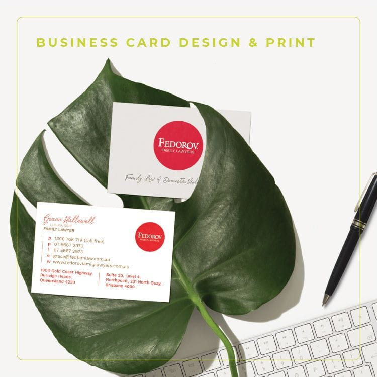 clean branded business cards