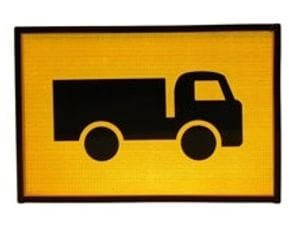Truck Entering Sign
