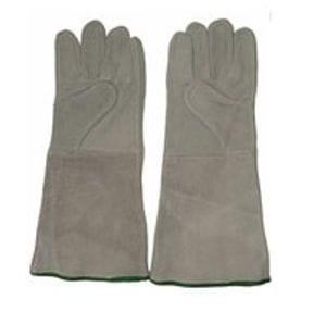 A Grade cow split chrome leatherwelders gloves - grey