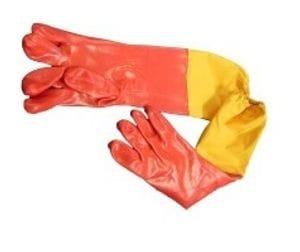 60cm red PVC gloves