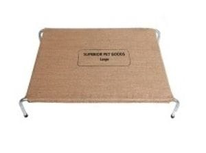 Raised Hessian Dog Bed