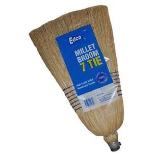 Millet Broom 7 Tie with Handle