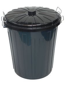 Round Rubbish Bin with Metal Handles