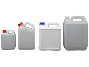 Plastic Jerry Can Style Containers