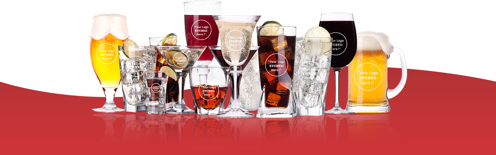 Personalised and engraved glassware from The Glassware Company