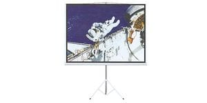 Tripod Projections Screens, White Colour Casing - 4:3