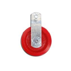 "3.5"" Red Cast Iron Pulley"