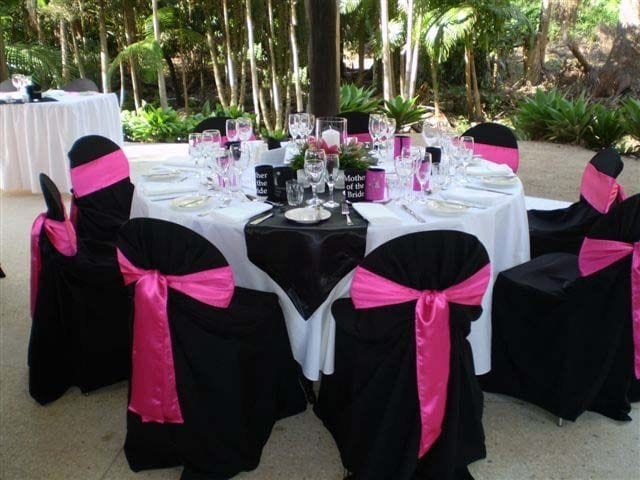 black chair covers table cloths any pics wedding forum you