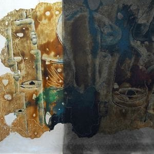 Oil Restoration of fire and smoke damaged oil artwork