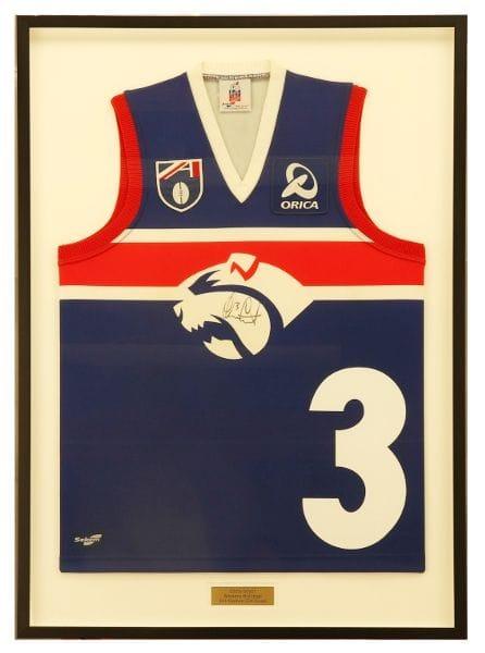 Framed Footscray Football Jumper