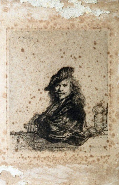 Restoration-Rembrandt- paper artwork image restoration Melbourne
