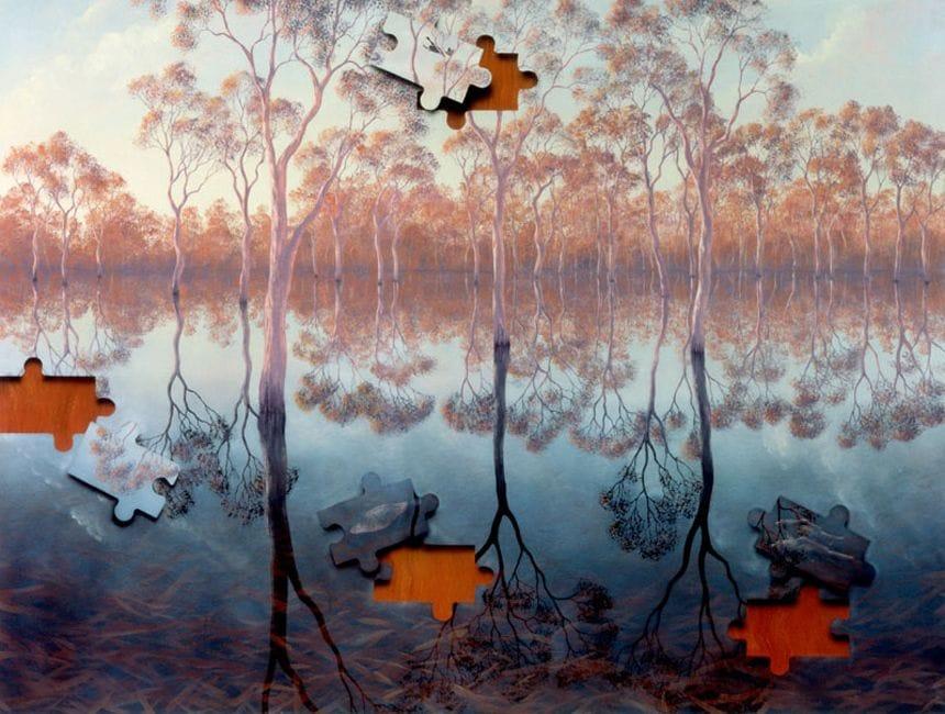 Thumbnail Lin Onus - Barmah Forest (framed)