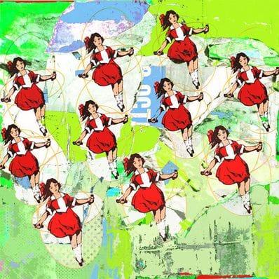 10 Skipping Girls Green - Jan Neil