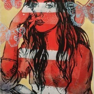 David Bromley - Red Nude Butterflies