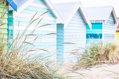 Brighton Bathing Boxes - Liza Clements