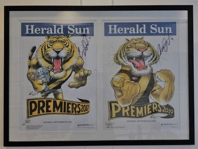 Dusty Martin Signed GF Posters Richmond