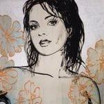 David Bromley - Cream Nude Flowers