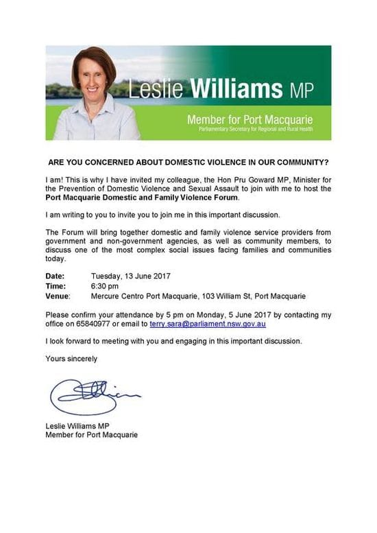 Port Macquarie Domestic Violence Forum