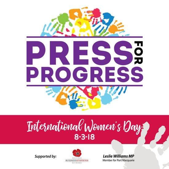 Chance to celebrate women who press for progress