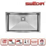 SWEDIA DANTE Kitchen Sink Large 760mm Single Bowl - 1.5mm Thick Stainless Steel