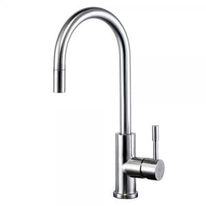 SWEDIA KLAAS Stainless Steel Kitchen Sink Mixer with Pull-Out Hose - Brushed