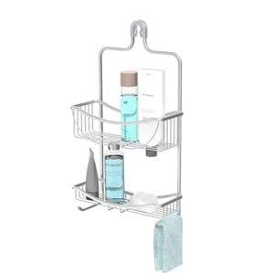 VENUS 2 Tier Hanging Shower Caddy - Aluminium Grey