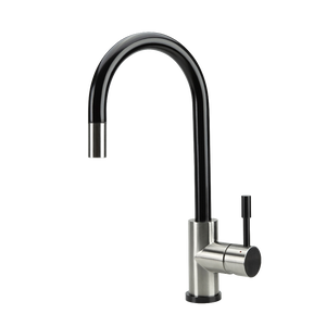 SWEDIA KLAAS Stainless Steel Kitchen Mixer Tap with Pull-Out - Brushed Black Satin