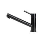 SWEDIA OSKAR Stainless Steel Kitchen Mixer Tap with Pull-Out - Black Satin Finish