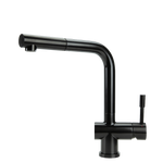 SWEDIA SIGGE Stainless Steel Kitchen Mixer Tap With Pull-Out - Satin Black Finish