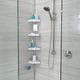 Thumbnail HiRISE 4 Tension Shower Caddy with Mirror - White/Aluminium