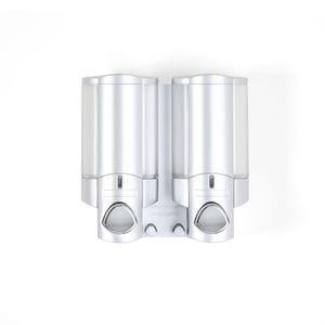 AVIVA 300ml Dispenser 2 - Satin Silver with Chrome Buttons