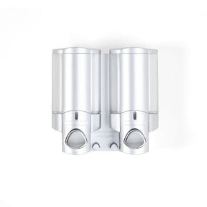 AVIVA 300ml Dispenser 3 - Satin Silver with Chrome Buttons