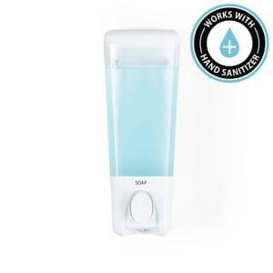 CLEAR CHOICE Soap and Sanitiser Dispenser 1 - White