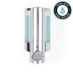 AVIVA Lockable Soap and Sanitiser Dispenser 1 - Chrome with Translucent Chamber, Chrome Button