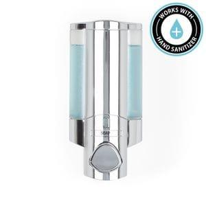 AVIVA 300ml Soap and Sanitiser Dispenser 1 - Chrome with Translucent Chambers