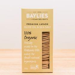 Organic Olive Oil & Sea Salt Lavash 135g
