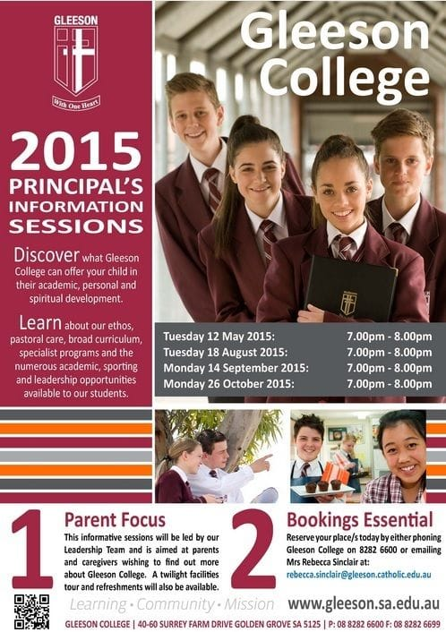 2015 Principal's Information Sessions - Book Today!