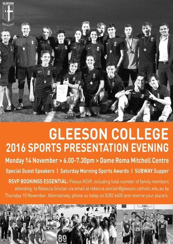 2016 Sports Presentation Evening