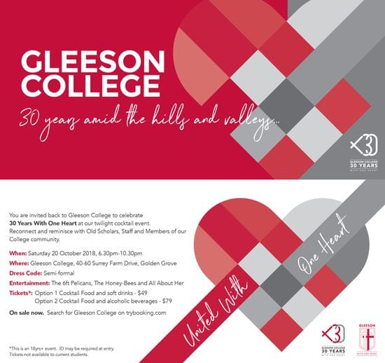 GLEESON COLLEGE 30 YEAR CELEBRATION