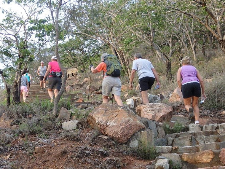 Early morning walk up the goat track on Castle Hill Townsville