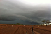 Storm rolling into Mt Isa